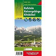 Kufstein - Kaisergebirge - Kitzbühel , Wanderkarte 1:50.000, WK 301, freytag & berndt Wander-Rad-Freizeitkarten