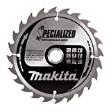 Makita B-09173 165 x 20 mm Specialized Circular Saw Blade for Cordless Saws with 24 Tooth - Red/Silver