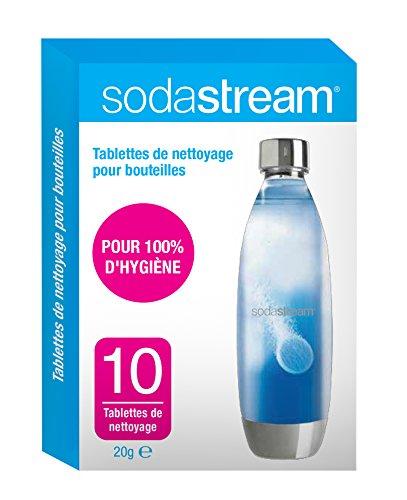 sodastream 30061954 Tablettes de Nettoyage x10, Carton, Blanc/Bleu, 11 x 2 x 17 cm