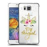 Head Case Designs Magisch Einhorn-Blumen Ruckseite Hülle für Samsung Galaxy Alpha