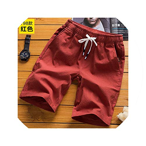 New Shorts Men Casual Beach Shorts Quality Bottoms Elastic Waist Fashion Brand Plus Size 5XL,Red,XL (Forever 21 Jogger)