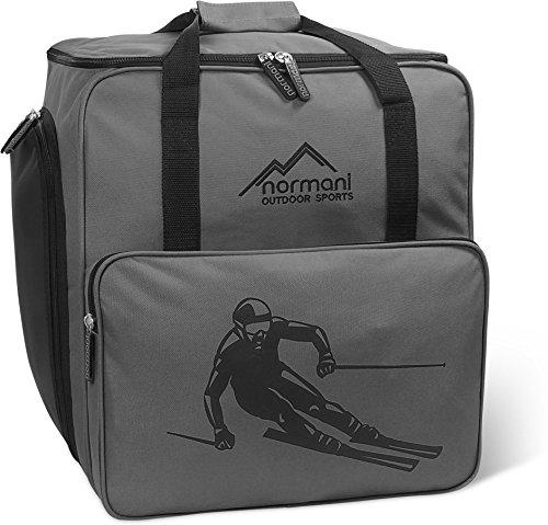normani Skischuhtasche mit separatem Helmfach und Rucksackfunktion Alpine DEPO Farbe Anthrazit -