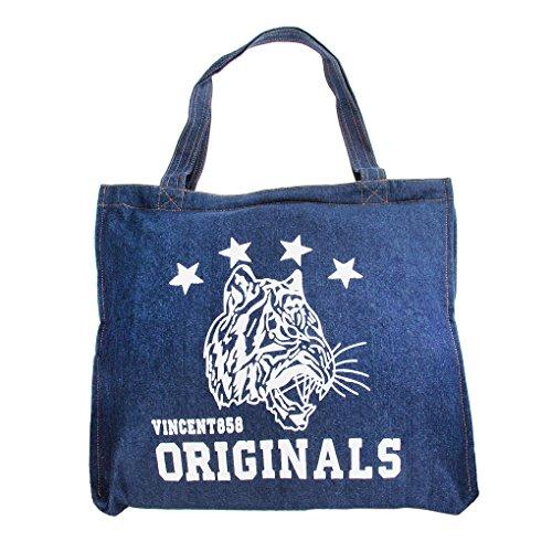 JH Damen Mädchen Umhängetasche Denim Tasche Handtasche einzigartig Design Einkauftasche Schulterbeutel Schultertasche