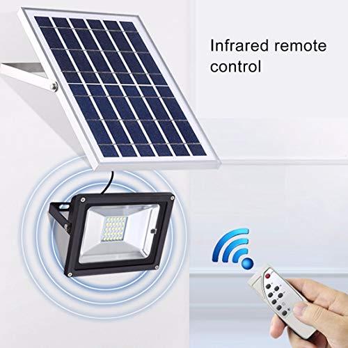 51mvH7XhyBL - Las luces del paisaje Luz de inundación solar elegante impermeable de TGD 10W 30 LED IP65 con el panel solar teledirigido Fiesta de jardin