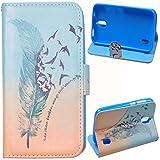Voguecase® Kunstleder Tasche PU für Huawei Y625 (5 Zoll)