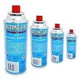 4x BUTAN-GAS à 227 g Inhalt pro Flasche für Outdooraktivitäten + Grillen