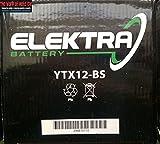 BATTERIA ELEKTRA YTX12-BS PER PIAGGIO Beverly 200 2001-2003 12V 10 Ah CON ACIDO
