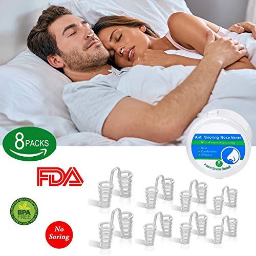 Schnarchstopper, BeYself 8 Sets Anti Schnarchen Geräte - Schnarchstopper Nasendilatatoren für Anti Schnarchen Unterstützung Schlafapnoe Relief