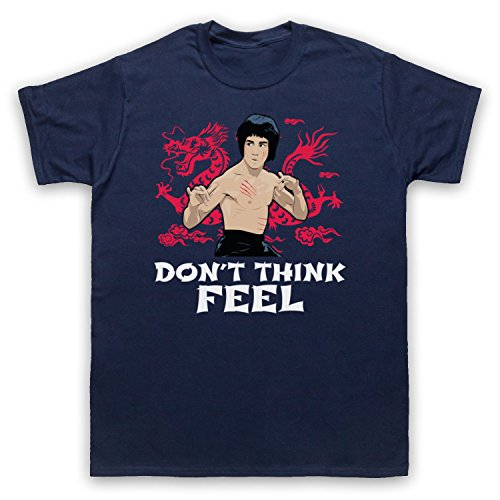 Bruce Lee Don't Think Feel Herren T-Shirt Ultramarinblau
