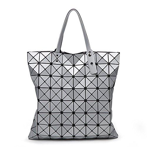 Damen Nashörner Handtasche Mode Persönlichkeit Gezeiten Lässig Damen Schulterbeutel Farbe Draußen Einfach Luxus Gehobene Tasche Silver