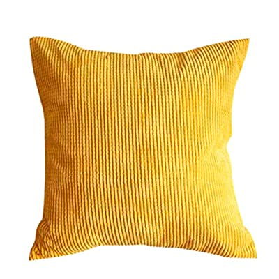 "Corduroy Soft Decorative Pillow Case Cushion Cover Square 17"" x 17"" - low-cost UK light store."