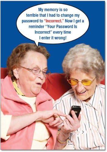 9912Z 'errata password – Funny Birthday biglietto d' auguri con con con 12,7 x 17,8 cm busta by Nobleworks | Prodotti di alta qualità  | Bel design  | Di Qualità Fine  c57867