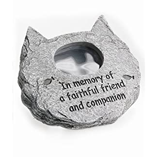 In memory of a Special Cat Photo Frame,Polyresin stone-effect pet memorial tribute 7