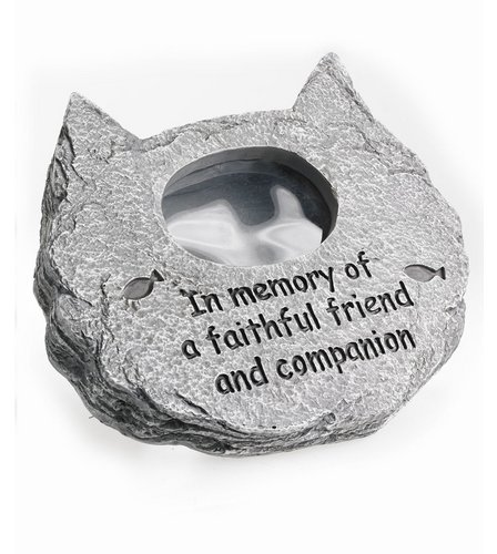 In memory of a Special Cat Photo Frame,Polyresin stone-effect pet memorial tribute 1