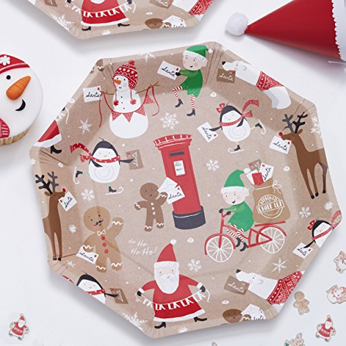 Santa & Friends - Fun and Festive Paper Plates