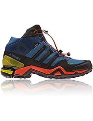 adidas TERREX FAST R MID GTX - Zapatillas senderismo para Hombre, Azul - (AZUBAS/NEGBAS/ENERGI) 42 2/3