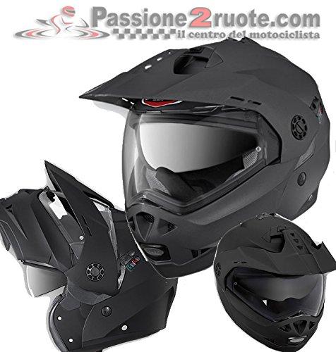 Casco Caberg Tourmax Matt Gunmetal Grigio Opaco modulare enduro helmet casque modularhelm (XS)
