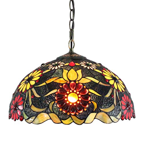 gweat-vintage-europeenne-tiffany-style-16-pouce-main-verre-colore-carnation-series-suspension-couloi