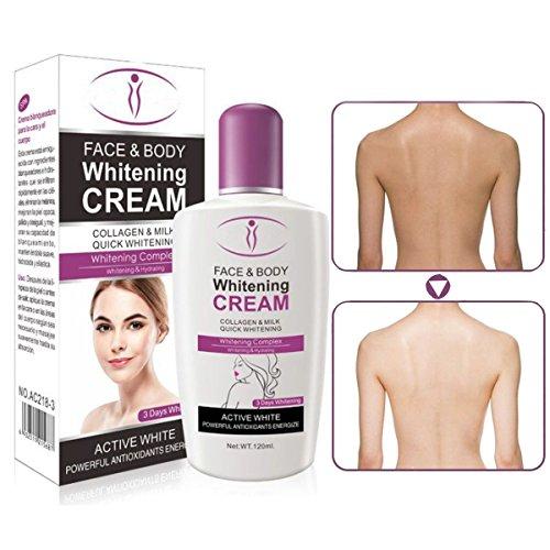Bluelover 120Ml Haut Whitening Creme Für Körper Gesicht Dunkle Haut Bleaching Lotion Gesichtscreme