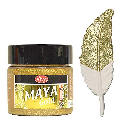 Viva Decor Maya Gold -Champagner- 45ml Metallglanz Farbe, Metallic Effekt