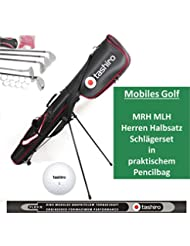 GOLFSET HERREN Linkshänder Rechtshänder Auswahl Golfbag 5 Golf-Schläger Komplettset Golfbälle pencilbag 14/15