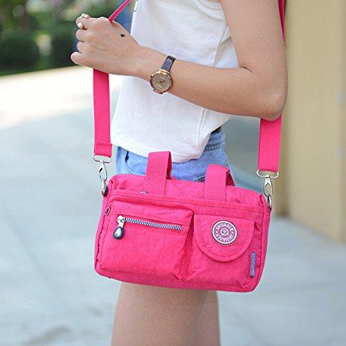 MeCooler Messenger Bag Damen Umhängetasche Mädchen Taschen Reisetasche Wasserfeste Kuriertasche Designer Sporttasche für Schultertasche Handtasche Strandtasche Rot One