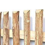 Zaunlatten aus Haselnuss • Zaunbretter 5-6 x 150cm zum Selbstbauen von Holzzaun, Lattenzaun, Staketenzaun bzw. Kastanienzaun