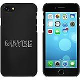 Negro 'Maybe' Funda / Carcasa para iPhone 7 (MC00073557)