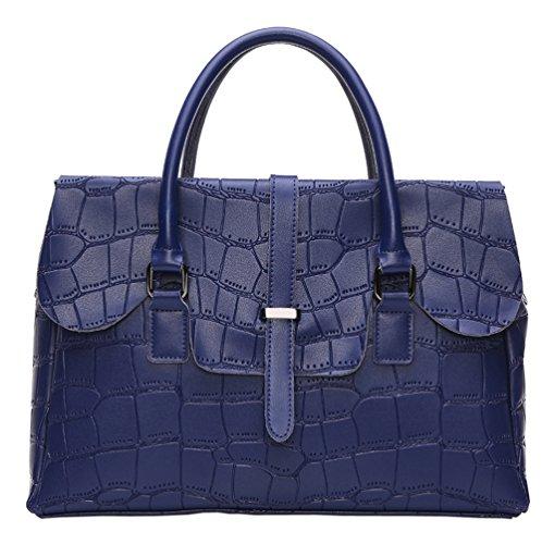 SAIERLONG Donne Designer Donna Vino rosso Vera Pelle Borse Tracolle Blu Royal