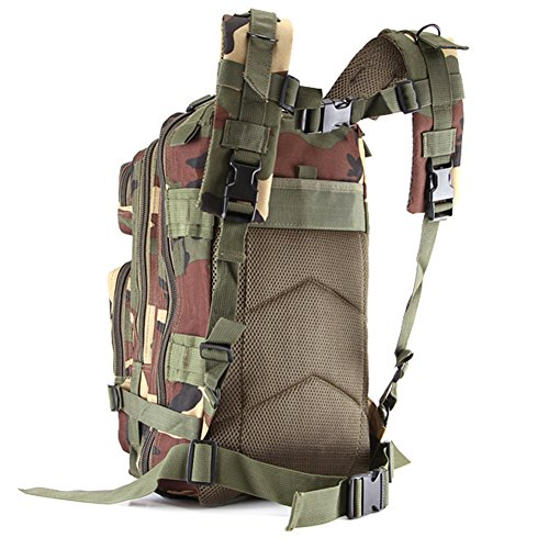 Kry Military Tactical interne Rahmen Rucksäcke leichter Tagesrucksack Wasserdicht Reisen Rucksack für Camping Wandern Klettern Radfahren 30L - camouflage