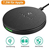 SAACHSO Fast Wireless Charger Qi Ladestation Kabellos Intelligent Erkennt 5W/7.5W/10W Induktive...
