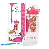 Dajour Ei Infusion Wasser Flasche Fruit Kid 's Herren und Damen Gesundes Vitamin Wasser Basily Savvy