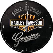 Nostalgic-Art 51082, Harley-Davidson, Wanduhr 31cm Orologio da Parete, Metallo, Bunt, 31 x 31 x 5,5 cm