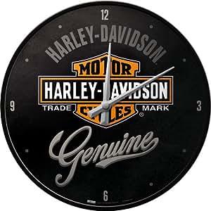 Nostalgic-Art 40361135108 Orologio Harley-Davidson, Acciaio, Nero, 31 x 31 x 6 cm