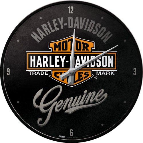 Nostalgic-Art 51082 Harley-Davidson - Genuine, Wanduhr 31cm (Harley Motorrad Uhr)