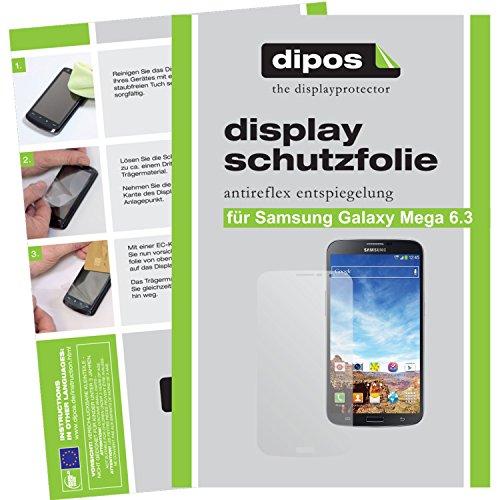 dipos Samsung Galaxy Mega 6.3 Schutzfolie (2 Stück) - Antireflex Premium Folie matt (Cover Für Samsung Galaxy Mega 2)