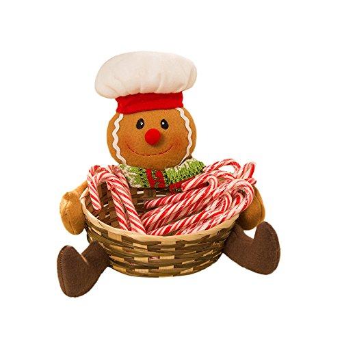 Home Dekoration Weihnachts Spielzeug Loveso Schneemann Gingerbread Baum Form Süßigkeiten Korb Candy Basket Christmas Ornaments (A, 18 x (Erwachsene Katze Diy Kostüme)