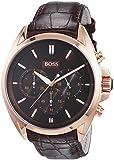 Hugo Boss Herren-Armbanduhr XL Driver Chronograph Quarz Leder 1513036