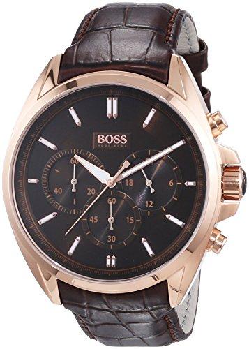 Hugo Boss Herren-Armbanduhr XL Driver Chronograph Quarz Leder - Braun Leder Boss Hugo