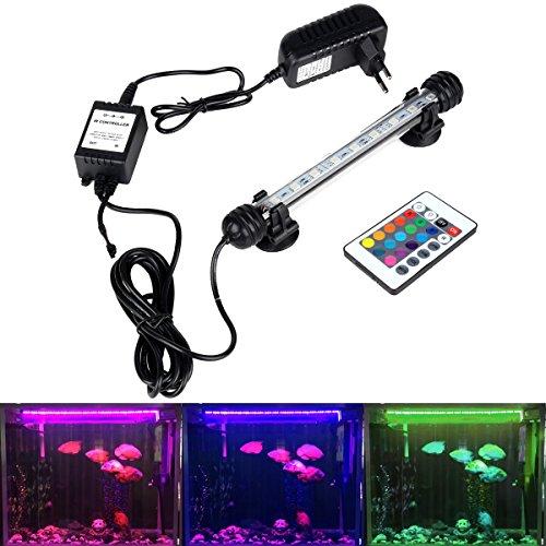 DOCEAN RGB Aquarium Leuchte 2W Aquarium LED Beleuchtung Aquarien LED Licht Aquariumlampe 18cm