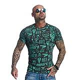 Yakuza Original Herren Allover Label T-Shirt