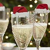 Decdeal 10 Stück Weihnachten Weinglas Karte Tischkarte Platzkarte ans Glas
