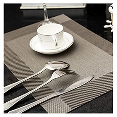 PVC Dining Table Placemat Kitchen Tool Tableware Pad Coffee Tea Place Mat Pack of 4 - cheap UK light store.