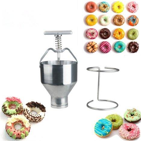 Manual Donut depositantes Dropper émbolo pasta dispensador de masa) Hopper–Molde para casa cocina DIY Pastel Pastelería Hornear Herramientas