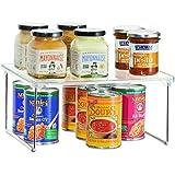 InterDesign Linus Estante de cocina, baldas apilables de plástico para vajilla y comida, estantería