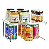 InterDesign Linus Scaffale Cucina, Mensola Cucina In Plastica Da Impilare Per Stoviglie E Alimenti, Trasparente