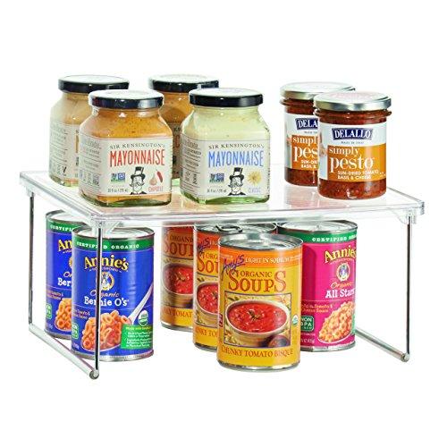 Kleine Küche-kühlschrank (InterDesign Linus Küchenregal, stapelbare Abstellfläche aus Kunststoff für Geschirr und Vorräte, durchsichtig)