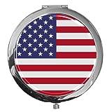 metALUm Premium - Taschen - Spiegel aus verchromten Metall'USA' mit edler, hochglänzender Kunstharzbeschichtung - tolles Geschenk für USA - Fans