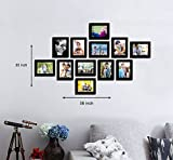#7: ART STREET - Zig Zag wall photo frames -12 Frames of 6 x 8 Inches .Set of 12 individual black photo frame (Black)