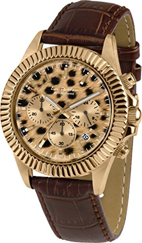 Jacques Lemans Damen Analog Quarz Uhr mit Leder Armband LP-111N